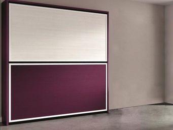WHITE LABEL - armoire lit superpos�e 2 couchages 90cm - Armario Cama