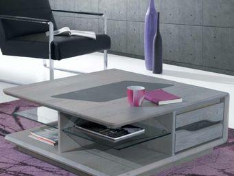 Ateliers De Langres - table basse carrée ceram - Mesa De Centro Cuadrada