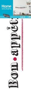 Nouvelles Images - sticker mural bon appétit - Adhesivo