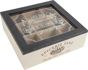 Aubry-Gaspard - boite à thé 9 compartiments - Lata De Té