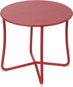 Amadeus - table basse epoxy camille rouge - Mesa De Centro Redonda