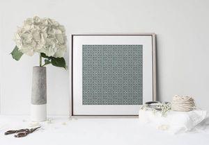 la Magie dans l'Image - print art lotus vert-de-gris foncé - Póster