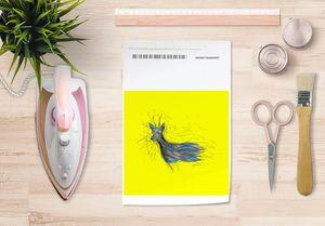 la Magie dans l'Image - papier transfert chevreuil jaune - Transfert