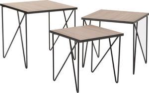 Amadeus - tables gigognes en métal esprit industriel (lot de - Mesas Nido