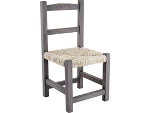 Aubry-Gaspard - chaise enfant en bois gris - Silla Para Niño
