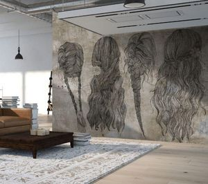 IN CREATION - cheveux sur béton - Papel Pintado Panorámico