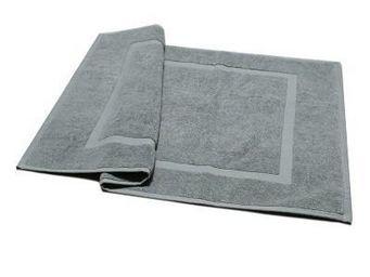 Liou - tapis de bain gris velours - Alfombra De Baño