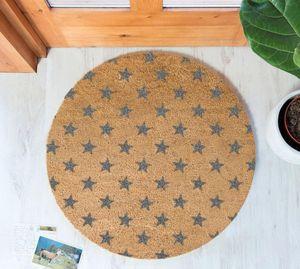 ARTSY DOORMATS - grey stars circle doormat - Felpudo