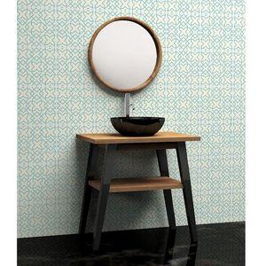 BOIS DESSUS BOIS DESSOUS - meuble de salle de bain en bois de teck 80 - Espejo De Cuarto De Baño