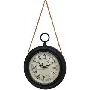 CHEMIN DE CAMPAGNE - style ancienne horloge murale en métal fer rond oi - Reloj De Pared