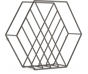 Umbra - rangement magazine structure hexagonale zina - Revistero