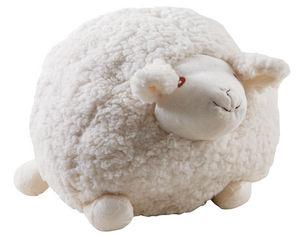 Aubry-Gaspard - mouton en laine blanc shaggy grand modèle - Peluche