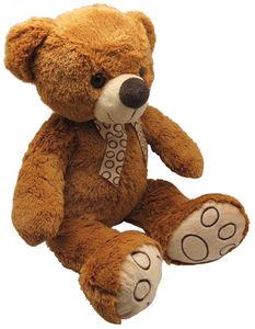 Aubry-Gaspard - peluche ours en acrylique brun 30 cm - Peluche