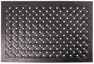 Esschert Design - paillasson en caoutchouc tressé rectangulaire - Felpudo