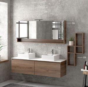 ITAL BAINS DESIGN - space 155 melamine - Mueble De Cuarto De Baño