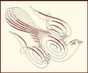 Anagram Diffusion - colombe - Kit De Bordado