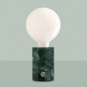 EDGAR - orbis green marble - Lámpara De Sobremesa