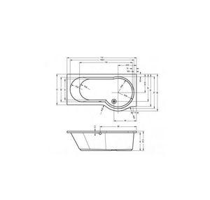 RIHO - baignoire d'angle 1412189 - Bañera Angular