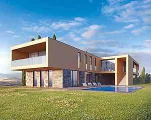 Casa con techo plano