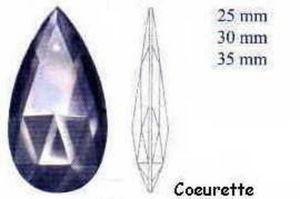 Falbala - coeurette - Candelero Con Cristales Colgantes