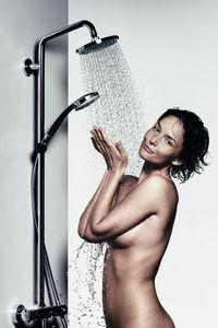 Hansgrohe France - croma 100 showerpipe - Barra De Ducha Con Cortina