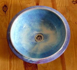 ATELIER DE LEVEJAC - vasque à l'acienne email nacré diam 43 cm - Lavabo Empotrado