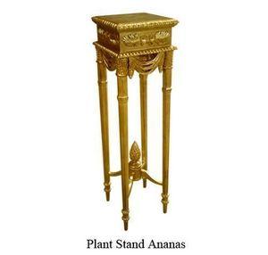 DECO PRIVE - sellette ananas en bois dore - Pedestal