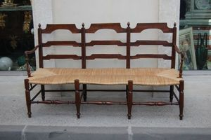 Antiquites Decoration Maurin -  - Sillón Provenzal De Tres Plazas