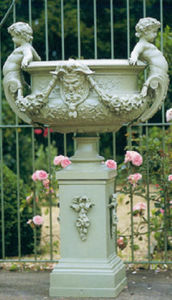 Barre-Bachelin - angelots - Pilón De Jardín