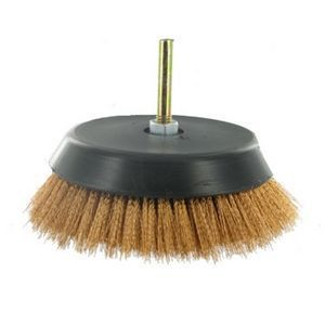 FERRURES ET PATINES - brosse bronze pour perceuse - Cepillo Metálico