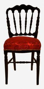 Demeure et Jardin - chaise de style napoléon iii avec tissu en damas r - Silla