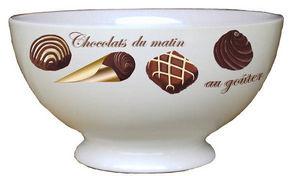 PORCELAINE CLAUDIE FRANEL - chocolat - Cuenco Para Cereales