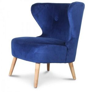 Demeure et Jardin - fauteuil crapaud design scandinave bleu teal kokün - Sillón