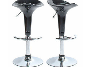 Miliboo - le lot de 2 tabourets galaxy noir - Taburete De Bar Regulable