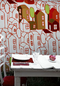 WALL & DECO - dream town - Papel Pintado