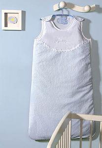 Organda Creation - la turbulette vichy bleu personnalis - Saco De Dormir Para Bebés