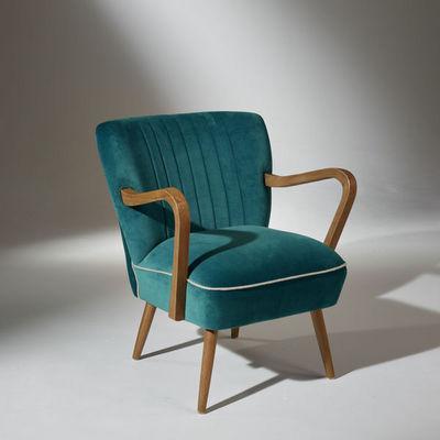 Robin des bois - Silla baja-Robin des bois-Fauteuil Sixty Bleu Turquoise