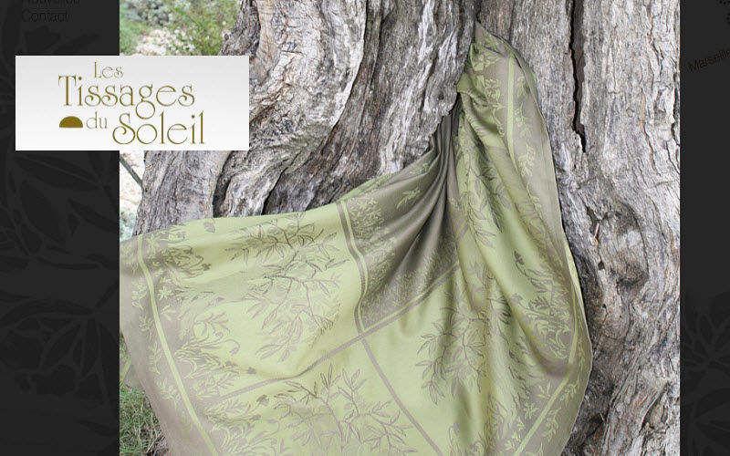 Les Tissages du Soleil Tovaglia rettangolare Tovaglie Biancheria da Tavola Sala da pranzo | Contemporaneo