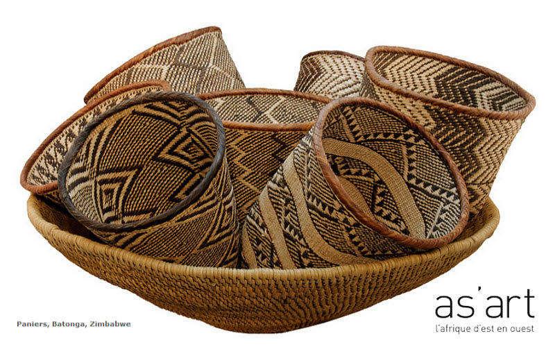 As'art L'afrique D'est En Ouest Canestro Cesti di vimini Oggetti decorativi  |