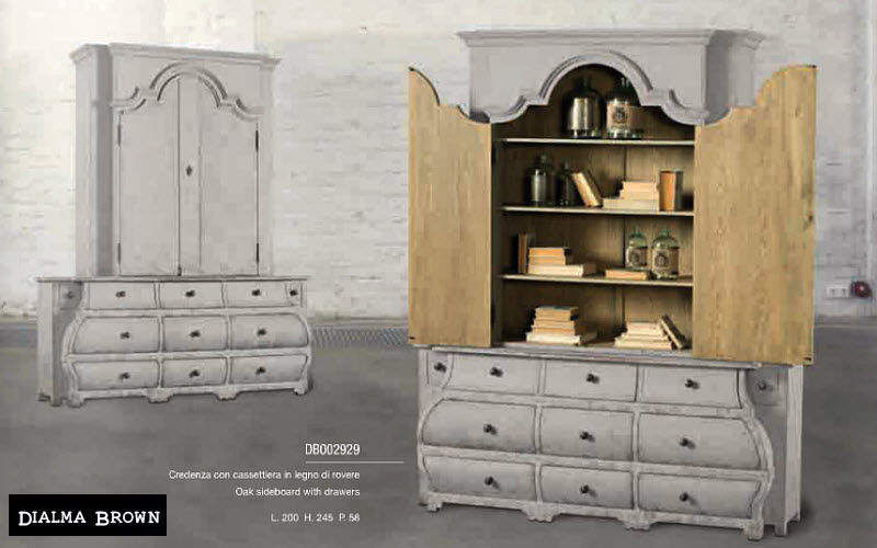 DIALMA BROWN Credenza a 2 elementi Credenze, buffet e mobili soggiorno Armadi, Cassettoni e Librerie  | Classico