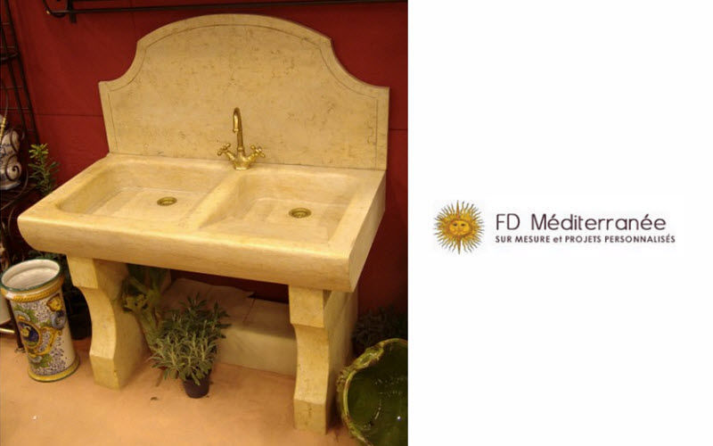 Fd Mediterranee Lavello a 2 vasche Lavelli Attrezzatura della cucina  |