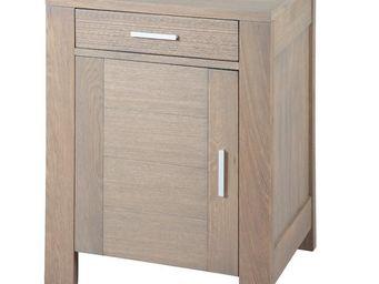 WHITE LABEL - confiturier chêne gris - oaky - l 60 x l 45 x h 80 - Vasetto Da Marmellata