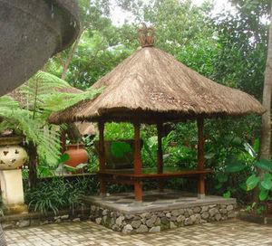 Gazebo con tetto in paglia