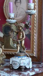 Art & Antiques - candélabres porcelaine et bronze du xixe - Candelabro