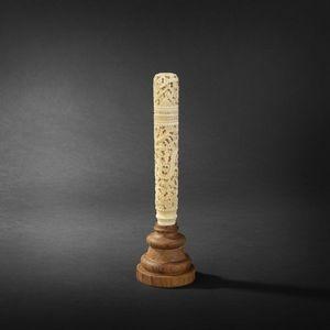 Expertissim - etui en ivoire. canton, xixe siècle - Astuccio Per Sigari