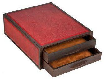 atelier de la foret - petit meuble 2 tiroirs courrier - Cassettiera