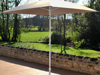 PROLOISIRS - parasol inclinable carré 2mx2m avec toile taupe - Ombrellone