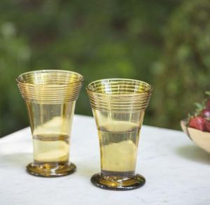 A CASA BIANCA - manacor amber glass  - Bicchiere