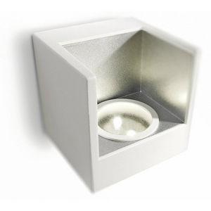 Philips - ledino - applique simple led blanc & argent | lumi - Applique