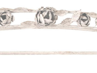 Antic Line Creations - ciel de lit en métal les roses - Baldacchino